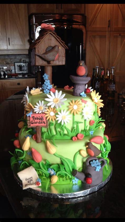 Flower Garden Cake Ideas 67401 Flower Garden Cake Cakes Pinterest