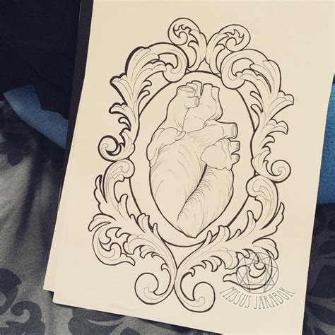 filigree heart tattoo designs anatomical in filigree frame design by missus