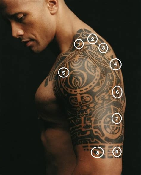 dwayne johnson tribal tattoo 40 popular tribal tattoos tribal band band