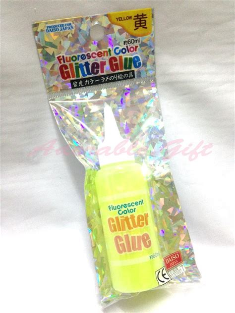 Daiso Gift Card - daiso japan fluorescent color glitter glue 60ml craft art card making kid party