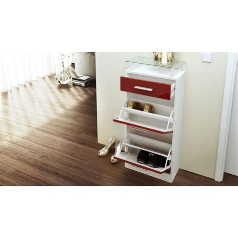 white high gloss shoe storage shoe storage rack cabinet loret v2 in white high gloss