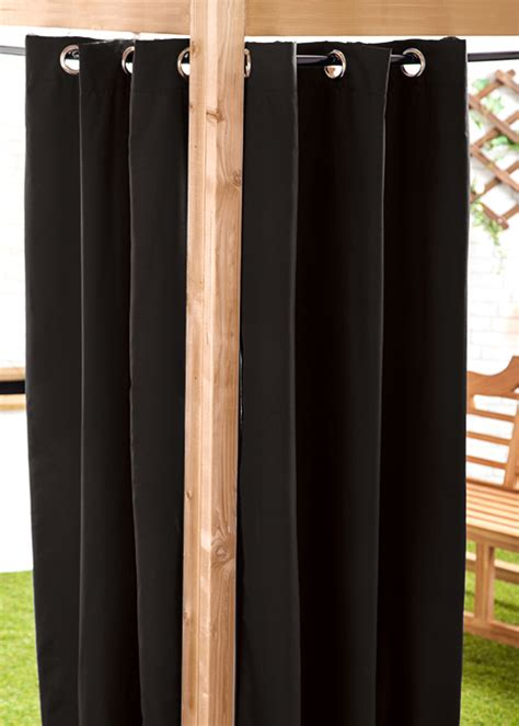black outdoor curtains black 140 x 240cm outdoor curtain eyelet panel garden