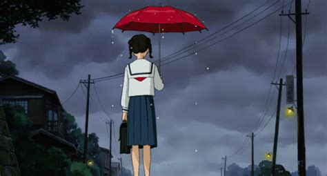 anime gif rain anime rain scenery gif tumblr