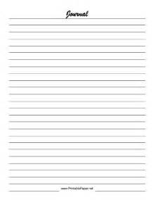 Paper For Journal - printable journal