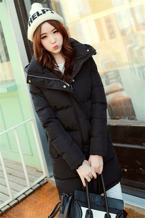 Jaket Wanita Black Import jaket wanita korea black winter coat