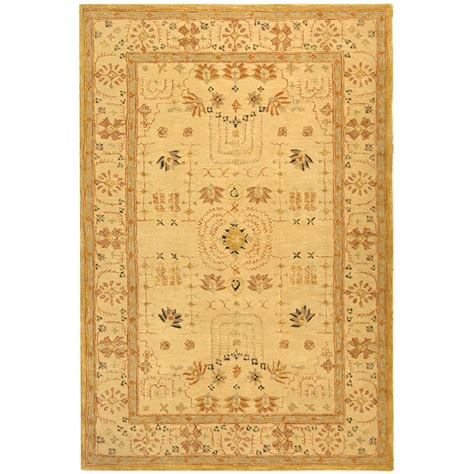 kitchen rugs 6ft safavieh anatolia sand 4 ft x 6 ft area rug an552a 4 the home depot