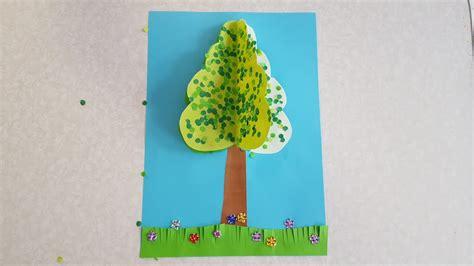 Basteln Mit Buntpapier by Der Baum Sommer Basteln Mit Buntpapier