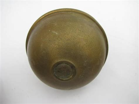 bed knobs pair of antique brass architectural ball finials old