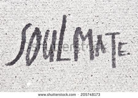 Caple Soul Mate soulmate written on a surface stock photo