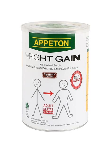 Appeton Weight Gain Untuk Wanita appeton weigh gain bubuk chocolate klg 450g