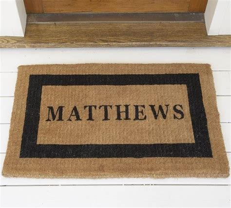 Personlized Door Mats by Personalized Doormat Traditional Doormats By Pottery