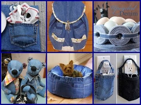 Journal Hacks by Recycled Crafts Ideas 50 Diy Old Jeans Projects Youtube