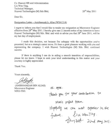 Resignation Letter Of Attorney In Fact Sle Letter Hostile Work Environment Sle Business Letter