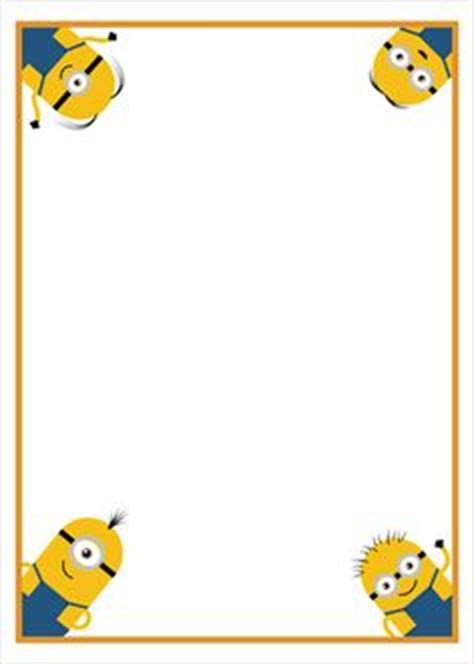 printable minion writing paper 1000 images about backing papers and borders on pinterest