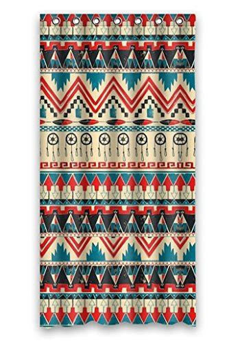 aztec print shower curtain buy prano 100 polyester shower curtain with aztec pattern