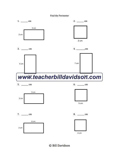 Perimeter Of A Rectangle Worksheet