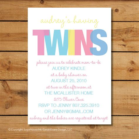 baby shower invitations templates for twins twin baby shower invitations boy girl