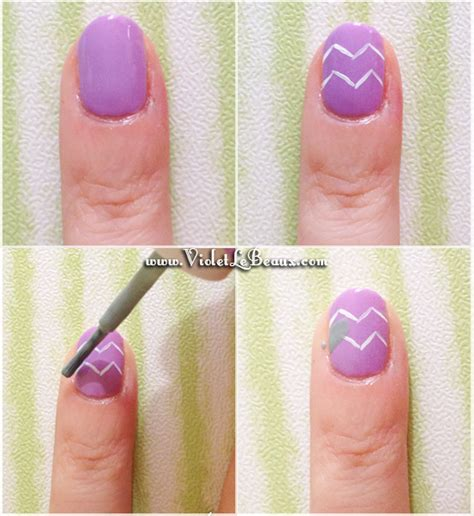 easy nail art chevron how to do cute nail art diy water marble nail art with