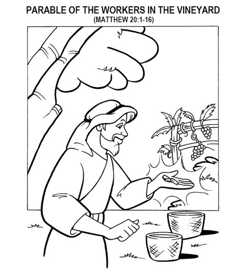 free coloring pages of parable of the rich fool