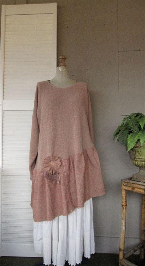 Sweater Urgan Shabby 280217 l xl 1x 2x upcycled clothing sweater dress artsy tattered