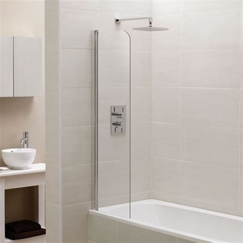 fixed bath shower screens april identiti2 fixed mini bath screen small