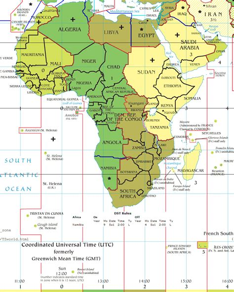 africa zone map africa time zones mapsof net
