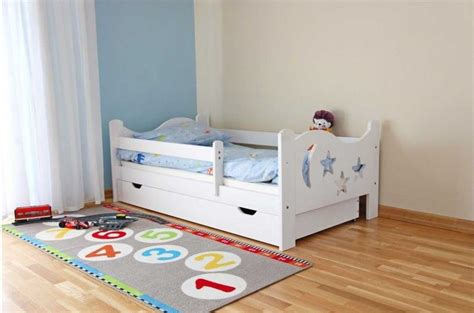 toddler bed with mattress included with bed rails and