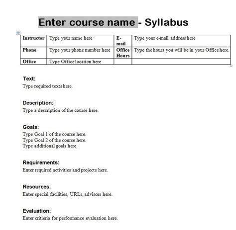 stron biz latex syllabus template