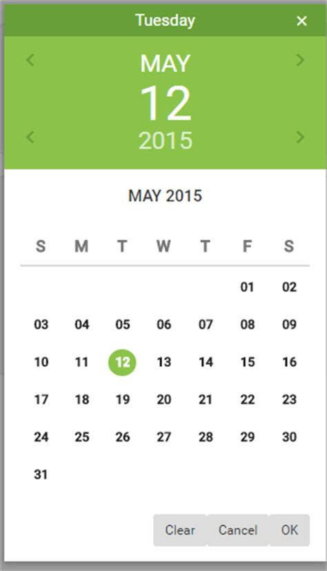 material design calendar bootstrap setting up a bootstrap material date and time picker plug in