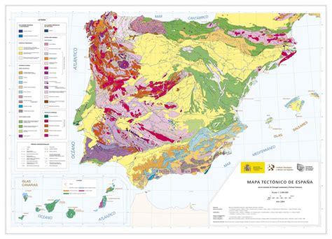 la espaã a ingeoes mapa tectnico de espaa a escala 1 2 000 000
