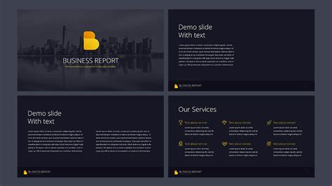 Business Report Pro Free Powerpoint Template Powerpointify Cut Pro Photo Slideshow Template Free