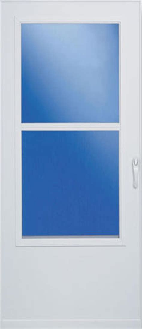 larson self storing mobile home and screen door at