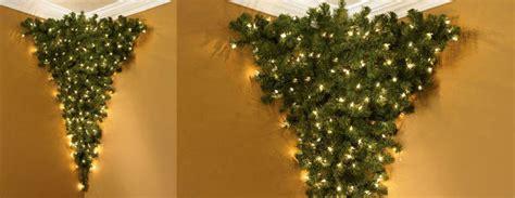 upside down corner pre lit christmas tree the green head