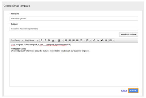 how do i create custom email templates in crm apps