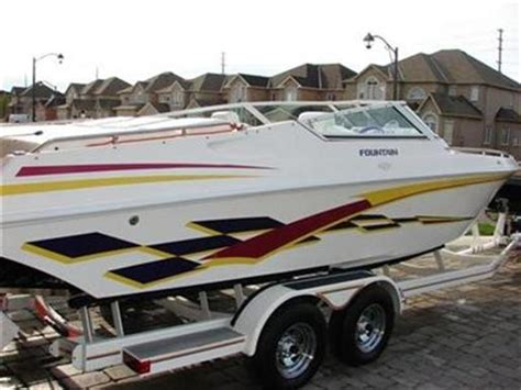 fountain boats for sale in ontario fountain 27 fever 2000 used boat for sale in port severn