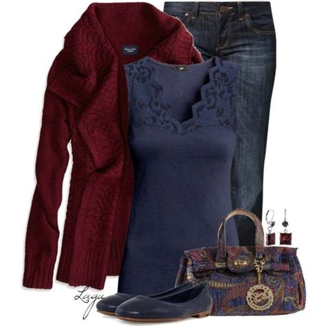 quot blue burgundy quot by lagu on polyvore fashion polyvore clothes and winter
