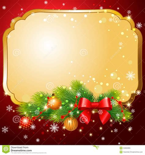 Christmas Postcard Royalty Free Stock Photo   Image: 34605965