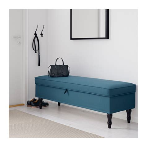 bench sure blue stocksund bench tallmyra blue black wood ikea
