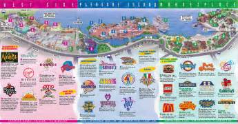 Downtown Disney Florida Map by Theme Park Brochures Downtown Disney Theme Park Brochures