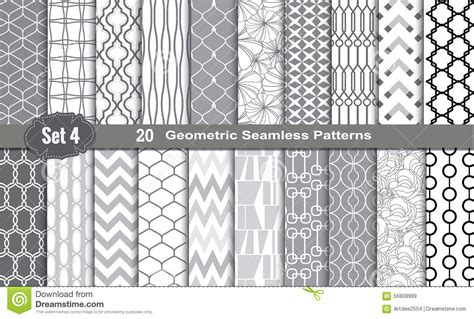 illustrator pattern free vector geometric seamless patterns stock vector image 56808989