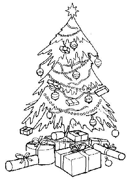 Coloriage Sapin de Noël magnifique dessin gratuit à imprimer