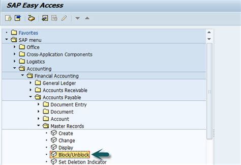 sap tutorial for accounts payable sap fi block a vendor