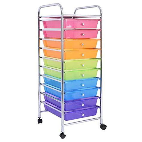 8 drawer rainbow cart giantex 10 drawer rolling storage cart scrapbook paper