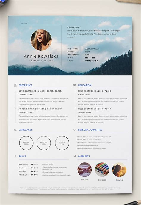 adobe illustrator templates free 7 free editable minimalist resume cv in adobe illustrator