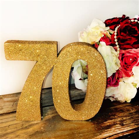70th birthday decoration large glitter number birthday party