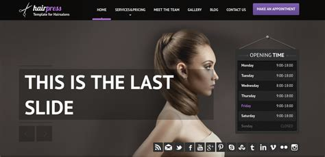 16 Hair Salon Website Templates Themes Free Premium Templates Hair Salon Website Design Templates Free