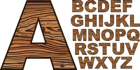 wooden font stock vector illustration  retro carved