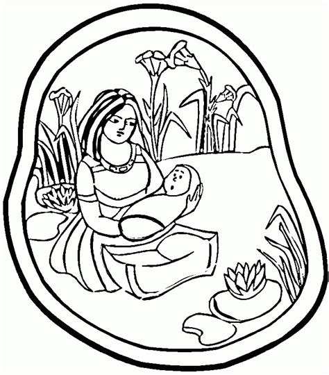 coloring pages of baby moses baby moses coloring pages coloring home