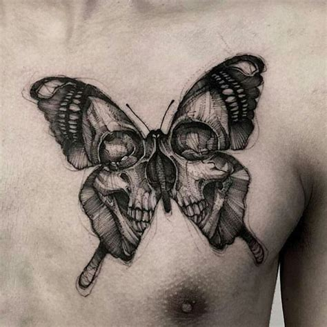 butterfly skull tattoos the 25 best ideas about skull butterfly on