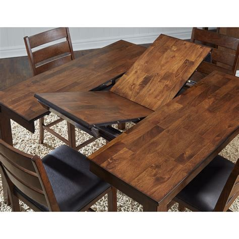 Square Dining Table With Leaf Square Butterfly Leaf Dining Table By Aamerica Wolf And Gardiner Wolf Furniture